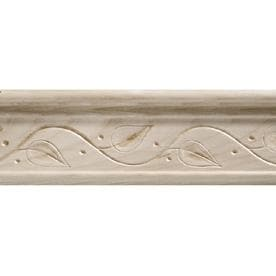2.5 In X 8 Ft White Hardwood Chair Rail Moulding