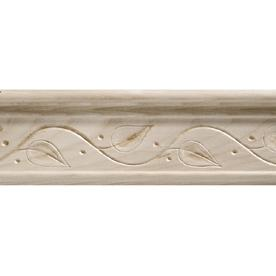 25in x 8ft white hardwood chair rail moulding