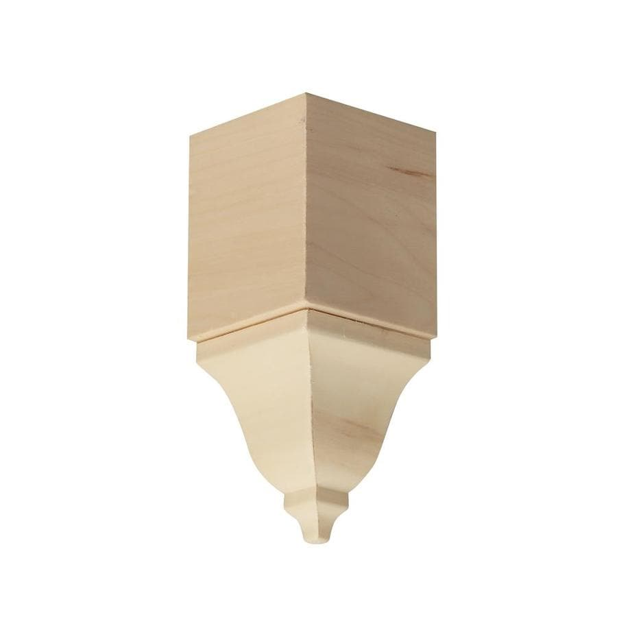 EverTrue 4.125-in x 4.125-in White Hardwood Inside Corner Crown Moulding Block