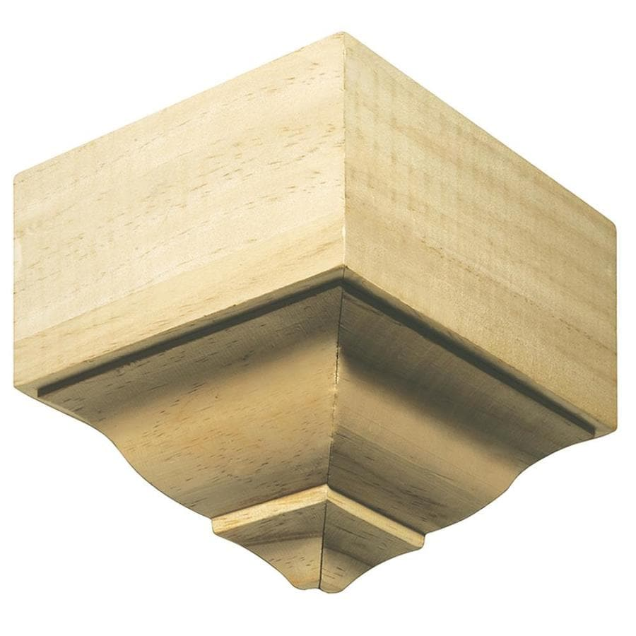 EverTrue 3.125-in x 5.875-in White Hardwood Outside Corner Crown Moulding Block