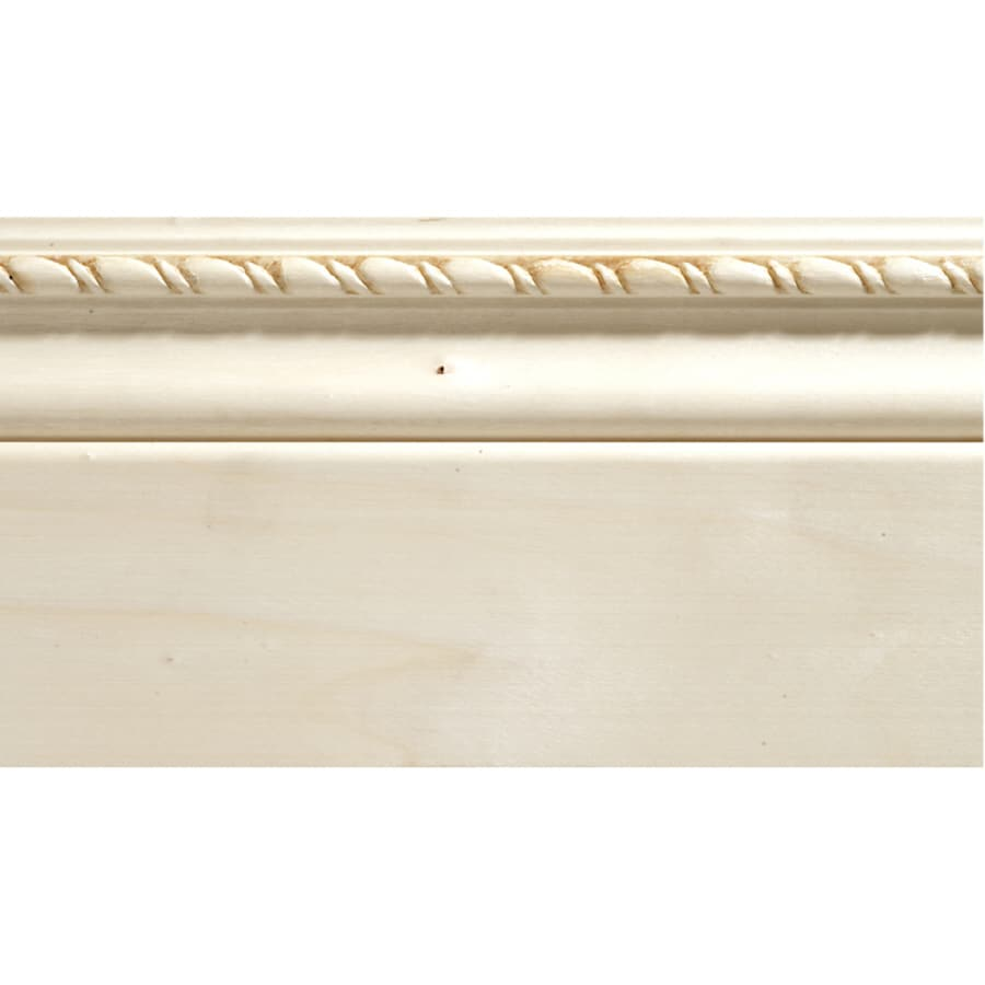 4-in x 8-ft Interior White Hardwood Unfinished Baseboard Moulding