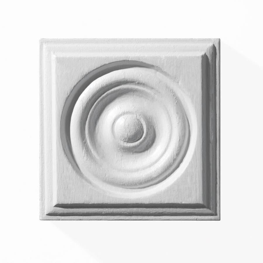 EverTrue 0.875-in x 2.75-in x 2.75-in Primed Whitewood Rosette Moulding Block