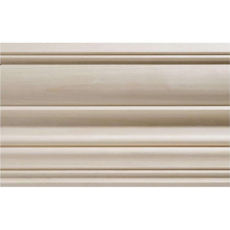 4 5 in x 8 ft white hardwood crown moulding