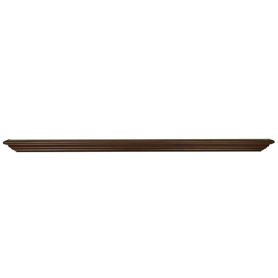 allen + roth 72-in Stain Grade Whitewood Federal Fireplace Mantel Shelf
