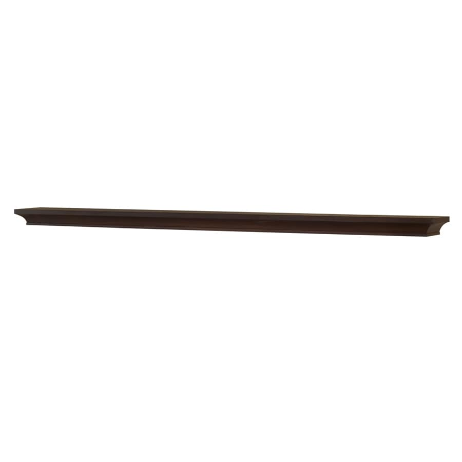allen + roth 72-in Stain Grade Whitewood Mission Fireplace Mantel Shelf