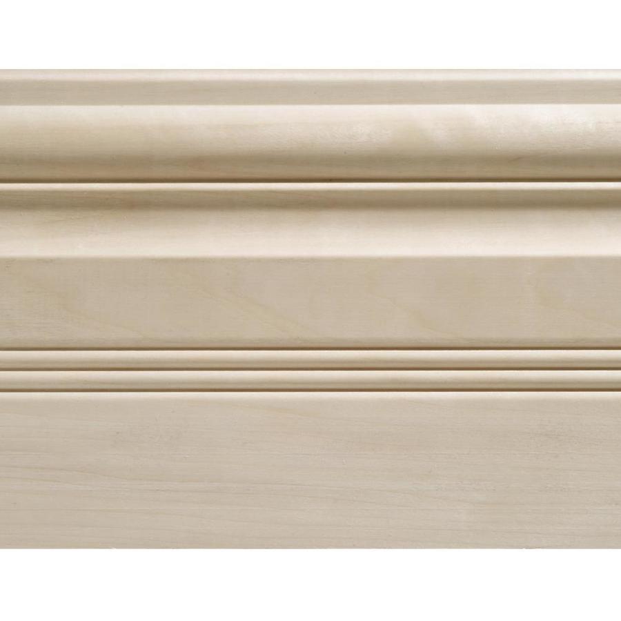 EverTrue 5.5-in x 8-ft Interior White Hardwood Baseboard Moulding