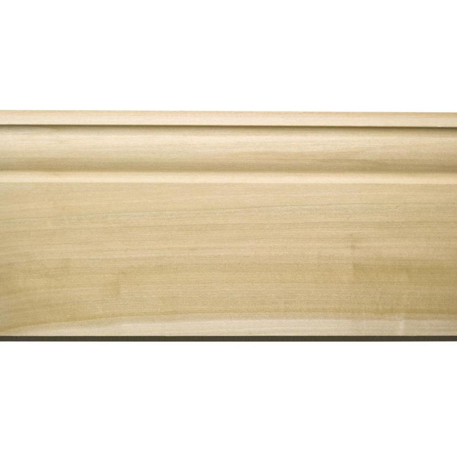 EverTrue 5.125-in x 8-ft Interior White Hardwood Baseboard