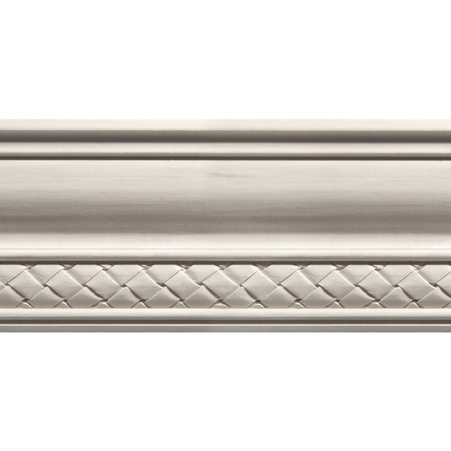 EverTrue 4-in x 8-ft White Hardwood Crown Moulding