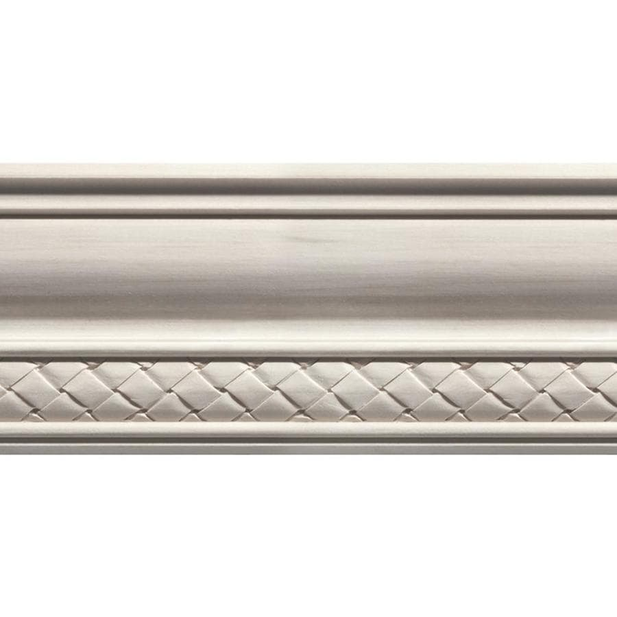 EverTrue 4-in x 12-ft White Hardwood Crown Moulding