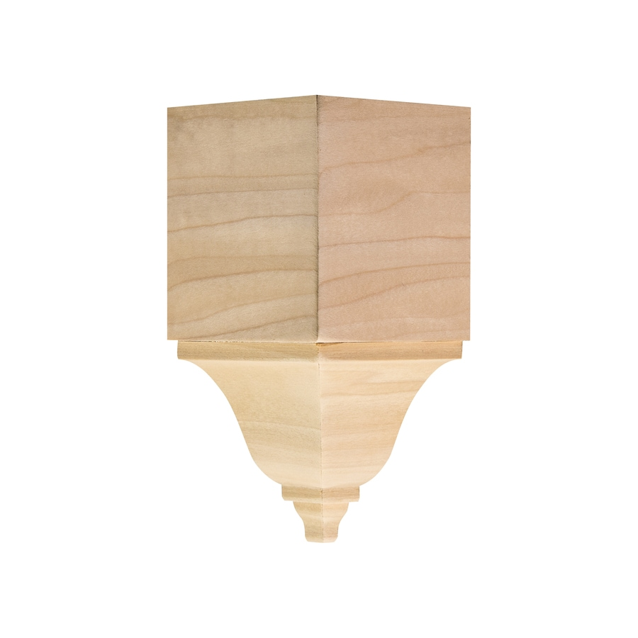 Ornamental 2.8438-in x 5.875-in White Hardwood Inside Corner Crown Moulding Block