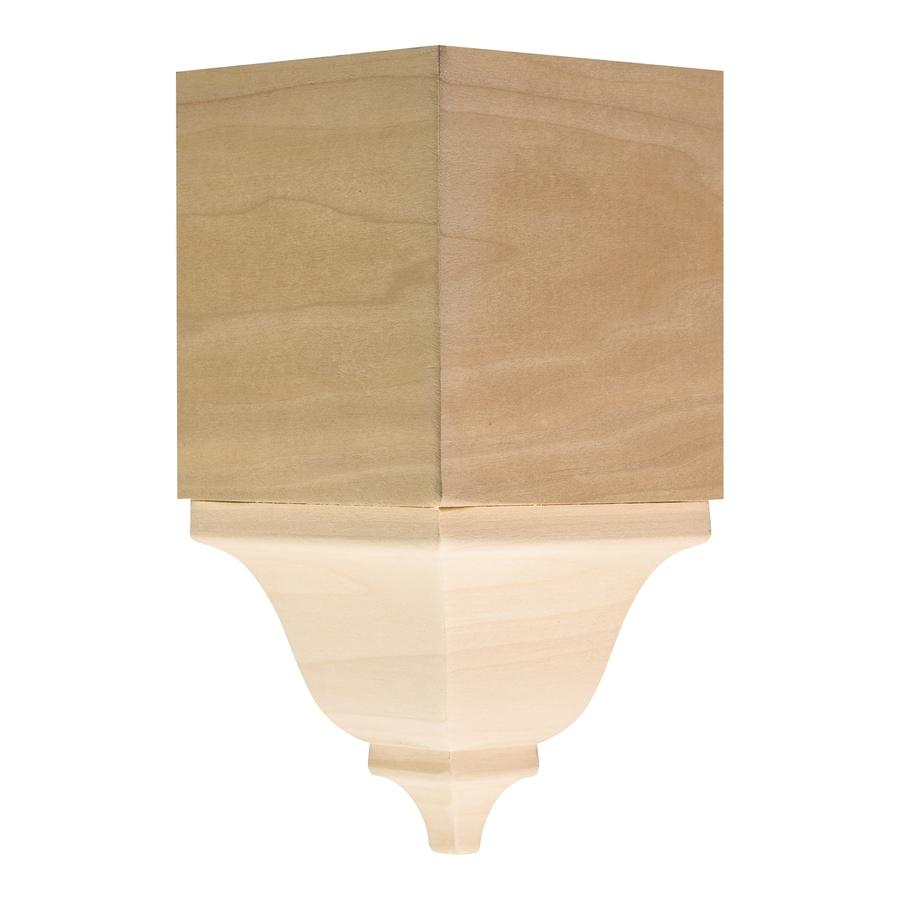 Ornamental 3.6875-in x 7.75-in White Hardwood Inside Corner Crown Moulding Block
