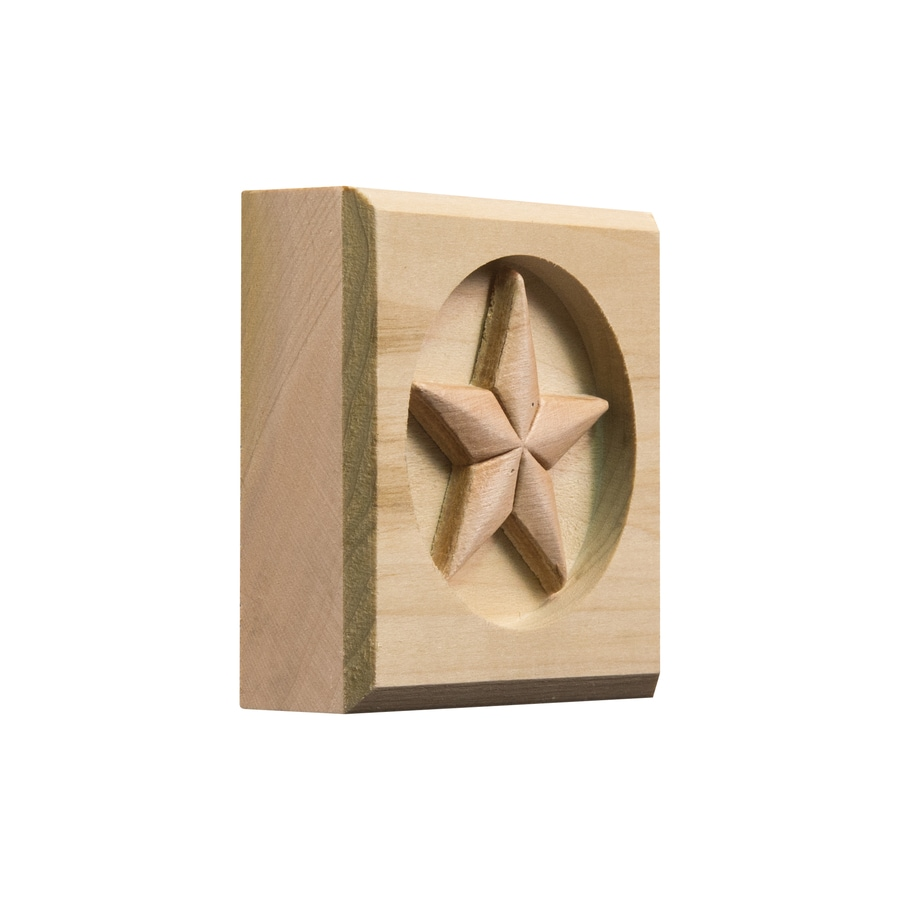 Ornamental Square Wood Rosette