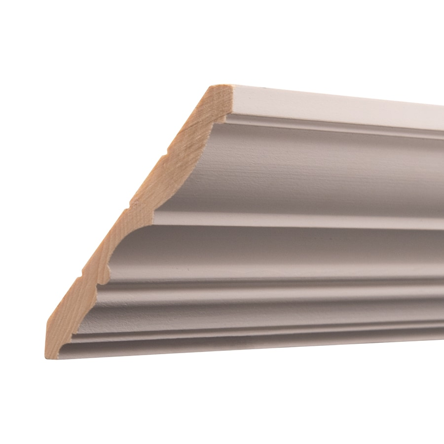 Ornamental 4.406-in x 12-ft White Hardwood Primed Crown Moulding