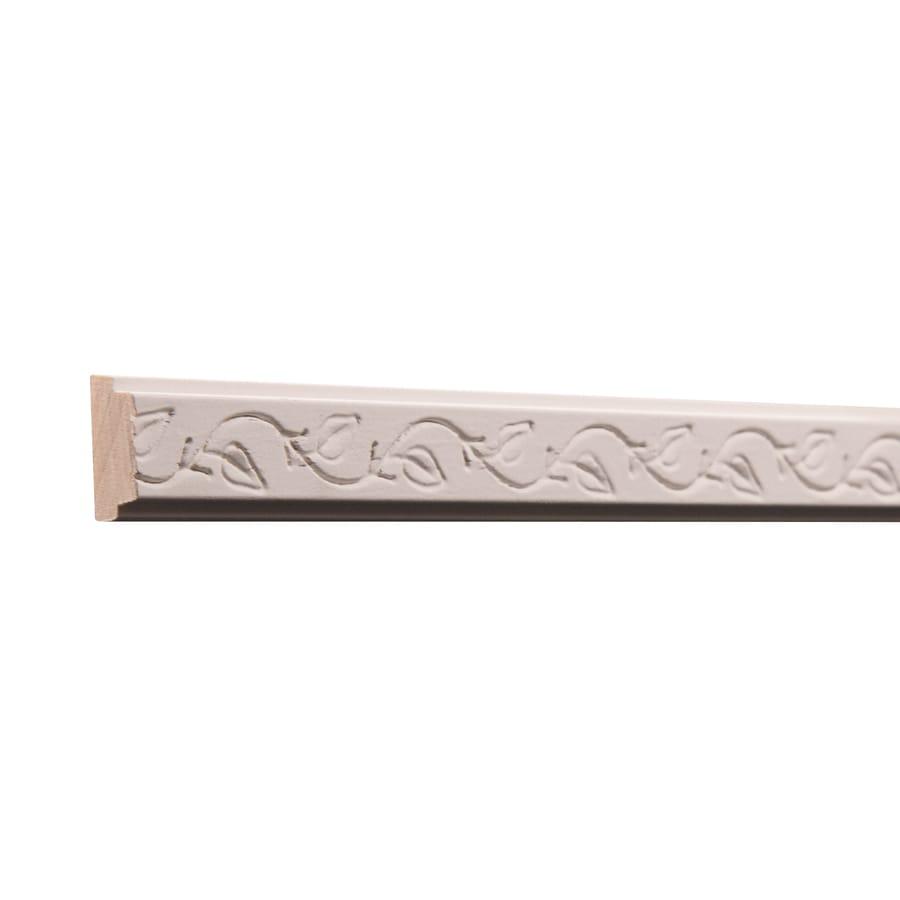 Ornamental 0.875-in x 8-ft White Hardwood Primed Chair Rail Moulding