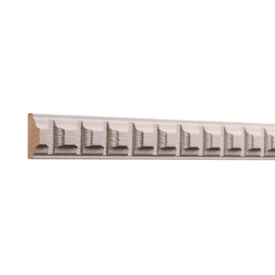 Ornamental 0.873-in x 8-ft White Hardwood Primed Dentil Chair Rail Moulding