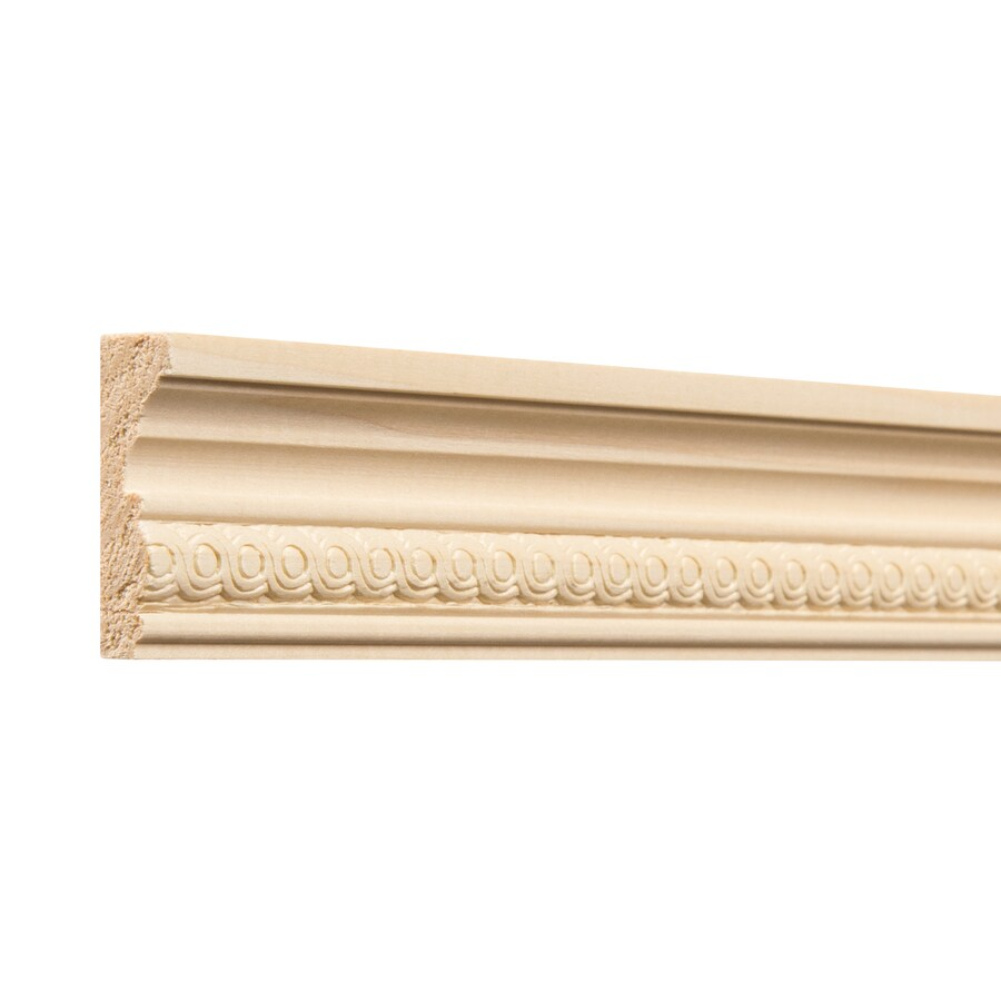 Ornamental 1.75-in x 4-ft White Hardwood Chair Rail Moulding