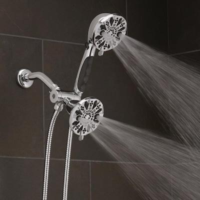 Oxygenics Hero Chrome 63-Spray Dual Shower Head at Lowes com