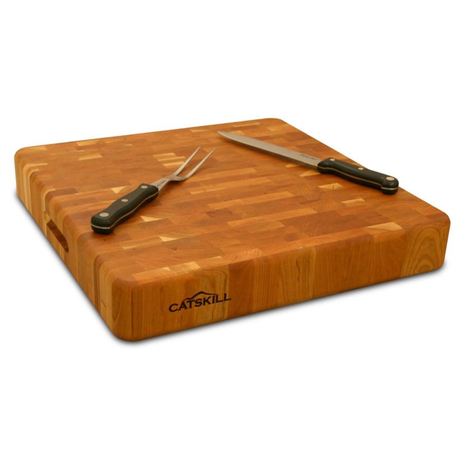 Catskill Craftsmen 18-in L x 18-in W Wood Cutting Board