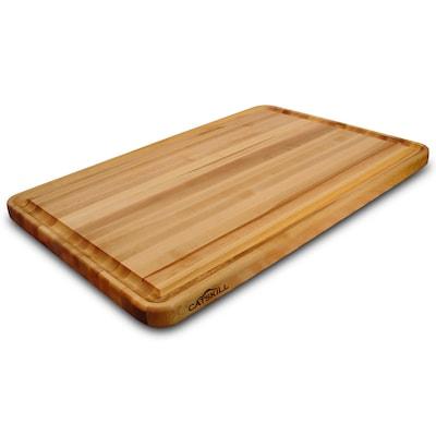30-in L x 20-in W Wood Cutting Board