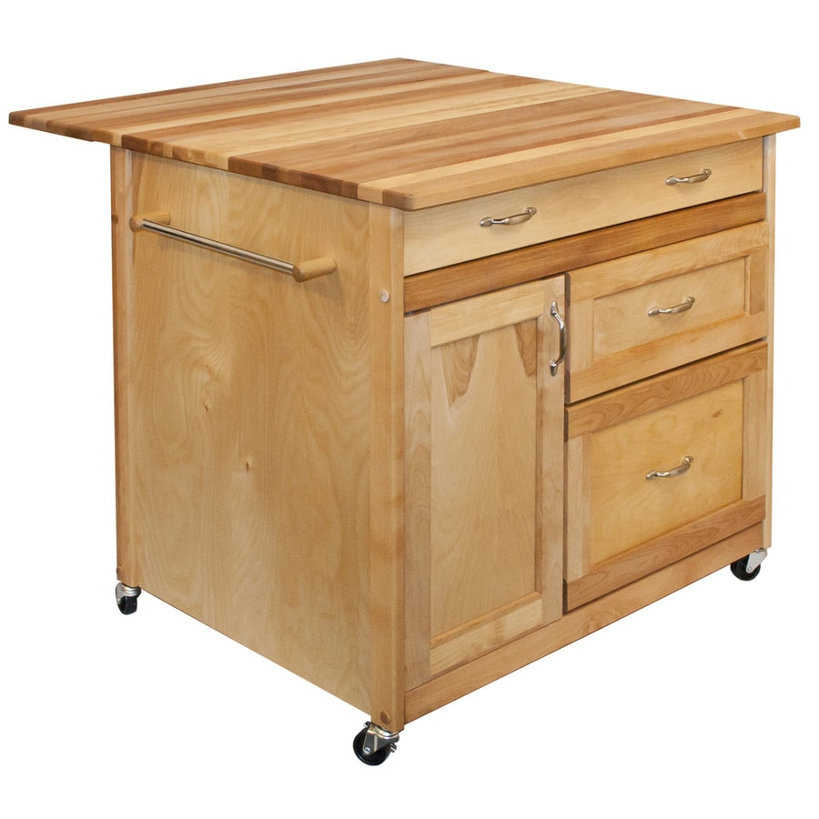 Catskill Craftsmen Natural Birch Kitchen Island