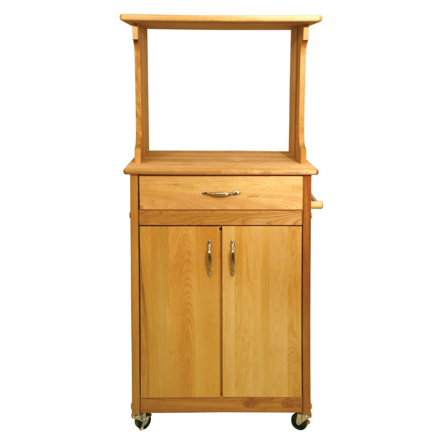 International Concepts Brown Farmhouse Kitchen Island At: Microwave Cart Lowes