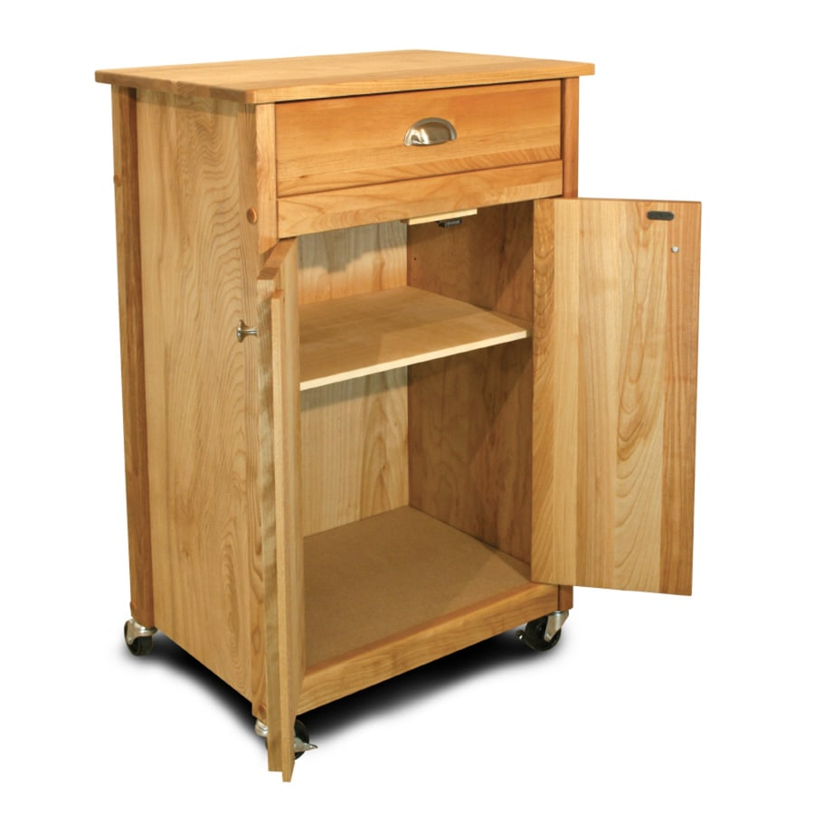 Shop Home Styles Black Scandinavian Kitchen Carts At Lowes Com: Shop Catskill Craftsmen Natural Hardwood/Oiled Finish