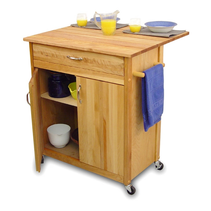 Catskill Craftsmen Kitchen Island With Drop Leaf In The Kitchen Islands Carts Department At Lowes Com