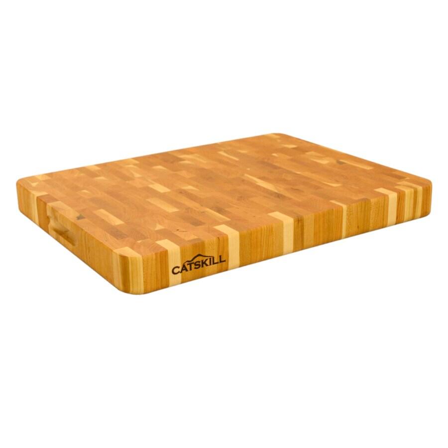 Catskill Craftsmen 19-in L x 14-1/2-in W Wood Cutting Board