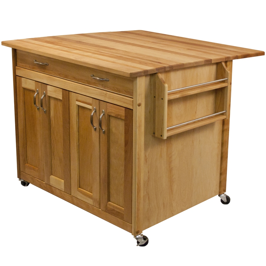 Catskill Craftsmen Brown Farmhouse Kitchen Island