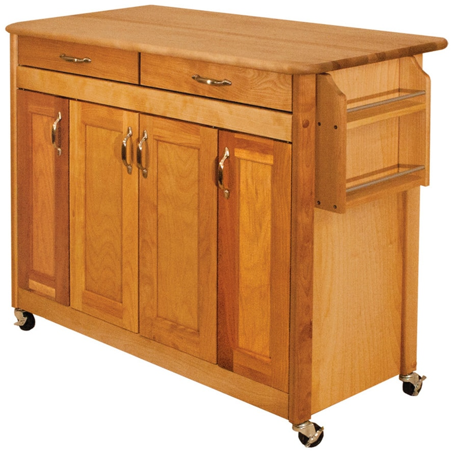 shop catskill craftsmen brown farmhouse kitchen island at. Black Bedroom Furniture Sets. Home Design Ideas