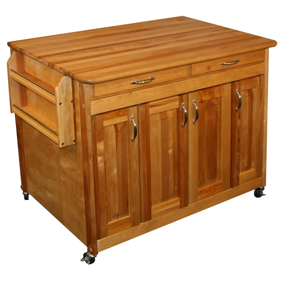 Catskill Craftsmen Brown Farmhouse Kitchen Island At Lowes Com