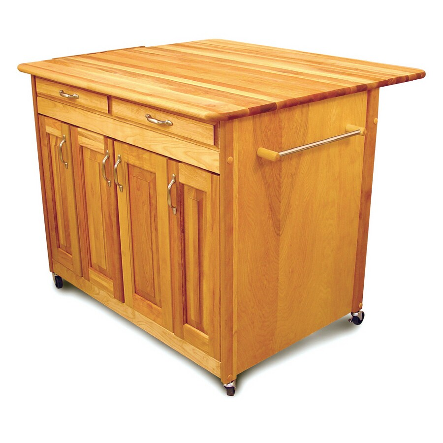 Catskill Craftsmen Hardwood Kitchen Island with Enclosed Cabinets - Shop Catskill Craftsmen Hardwood Kitchen Island With Enclosed