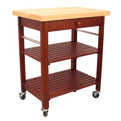 Red Country/Cottage Kitchen Cart