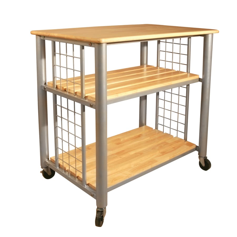Shop Catskill Craftsmen Gray Farmhouse Kitchen Cart At