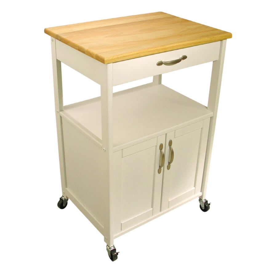 Shop Catskill Craftsmen Brown Modern Kitchen Cart At Lowes Com