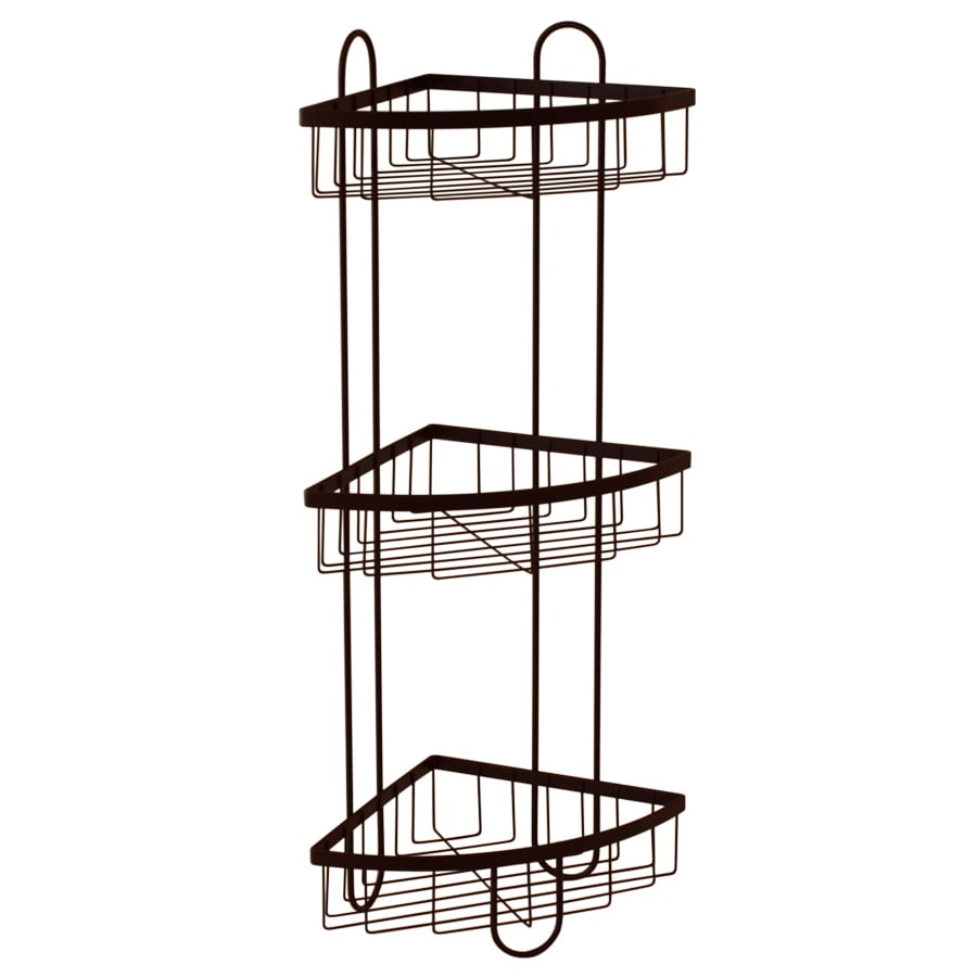 Style Selections 25.51-in H Steel Oil-Rubbed Bronze Floor Freestanding Shower Caddy