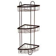 Style Selections 25.51 In H Steel Oil Rubbed Bronze Floor Freestanding  Shower Caddy