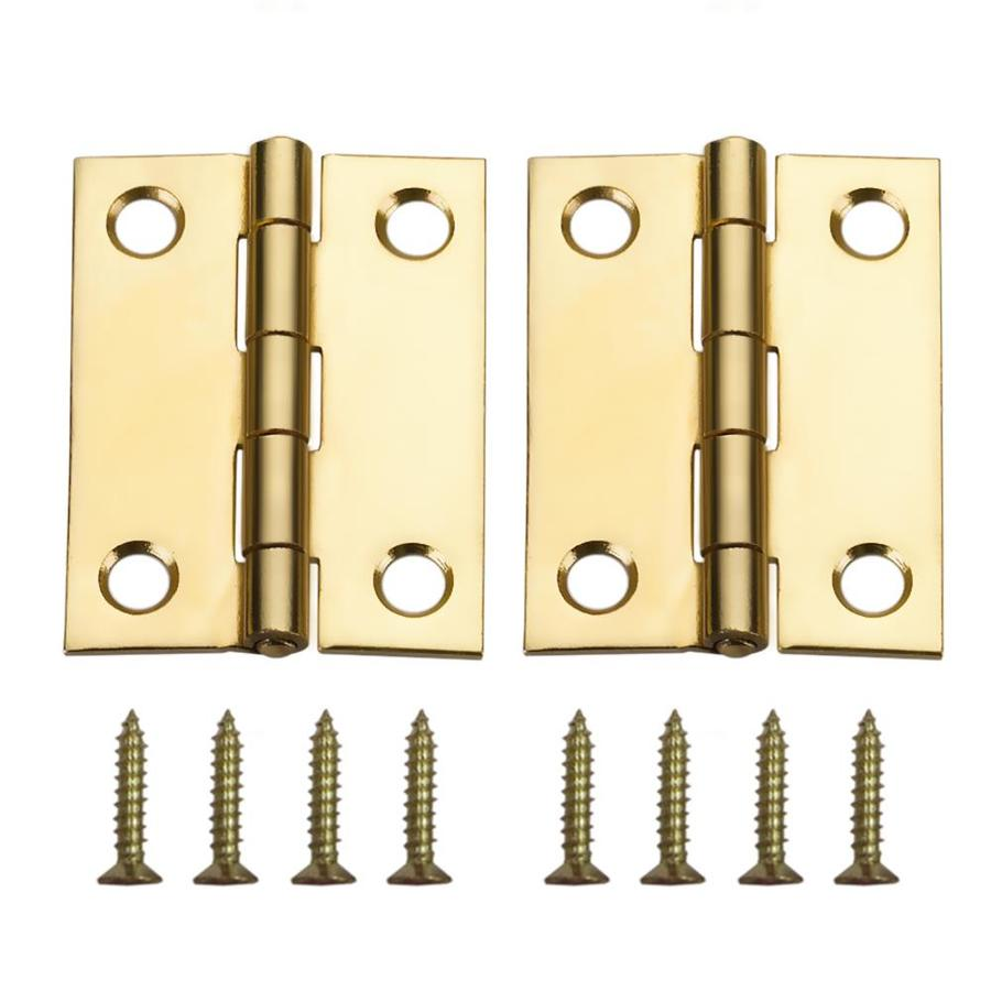 Gatehouse 2-Pack Brass-Plated Door Hinges