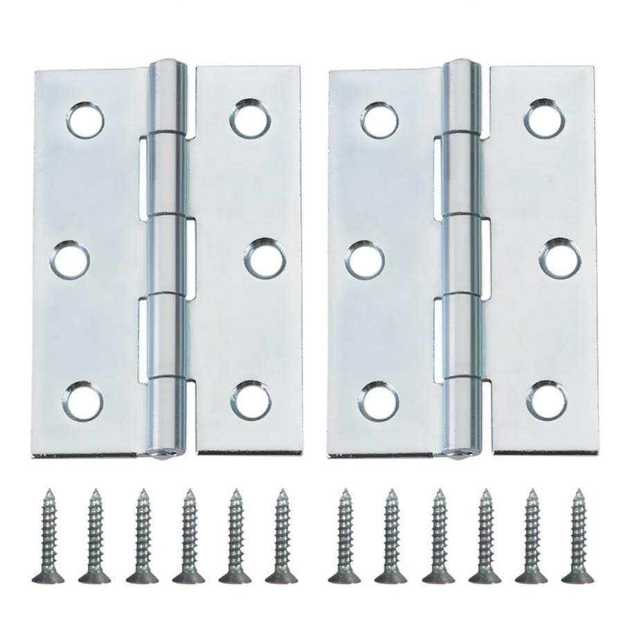 Gatehouse 2-Pack Zinc-Plated Door Hinges