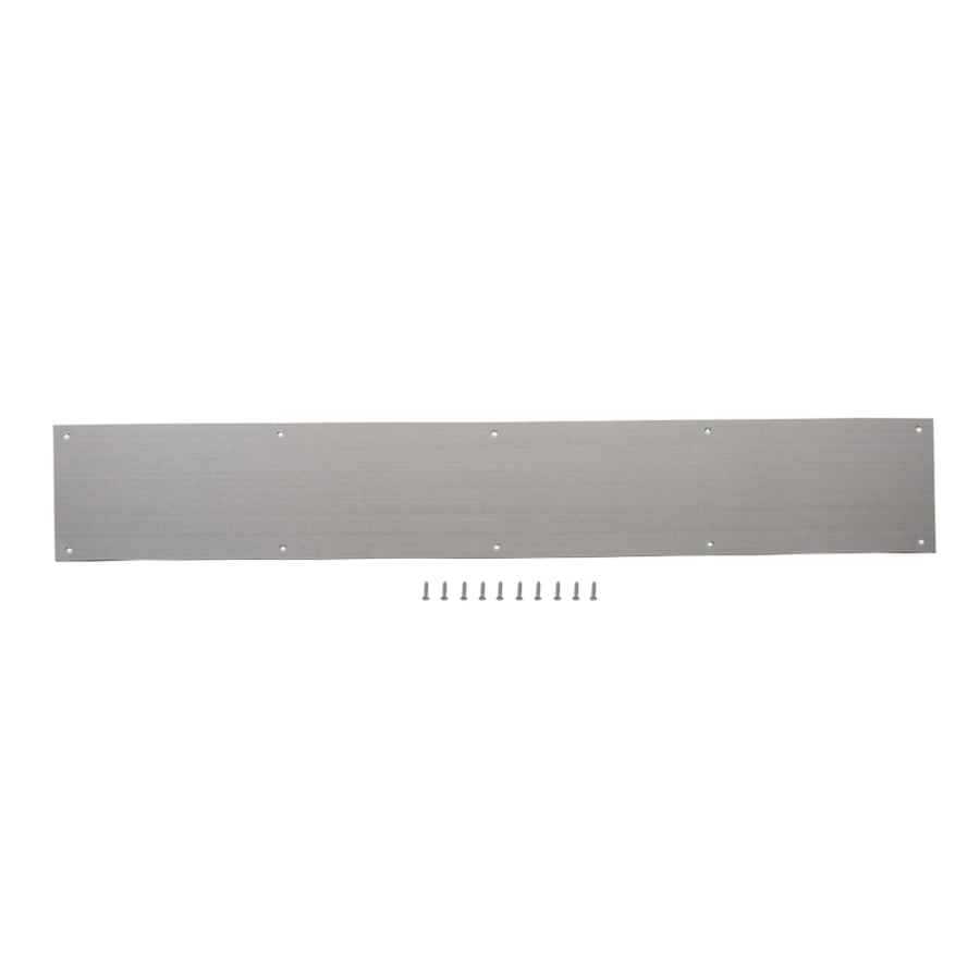 Gatehouse 6-in W x 30-in H Satin Nickel Kick Plate at Lowes.com on