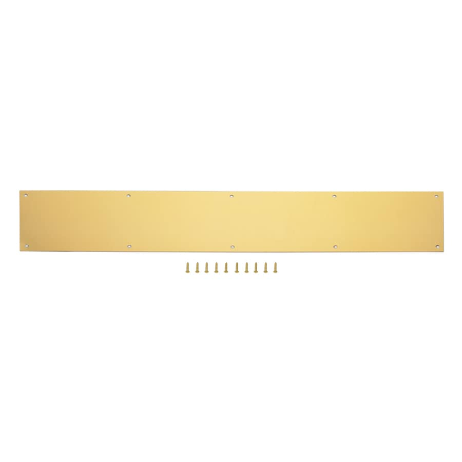 Gatehouse 6-in x 30-in Brass-Plated Entry Door Kick Plate