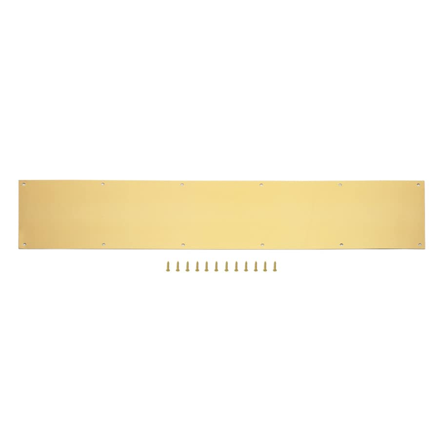 Gatehouse 8 In W X 34 In H Polished Brass Kick Plate At