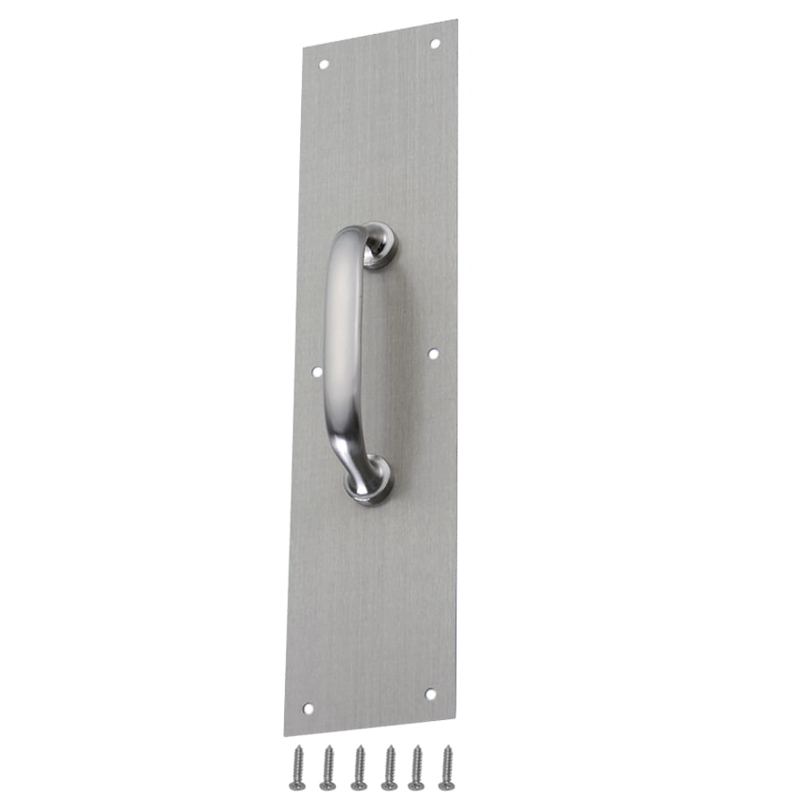Gatehouse 3.48-in x 14.96-in Silver Entry Door Pull Plate