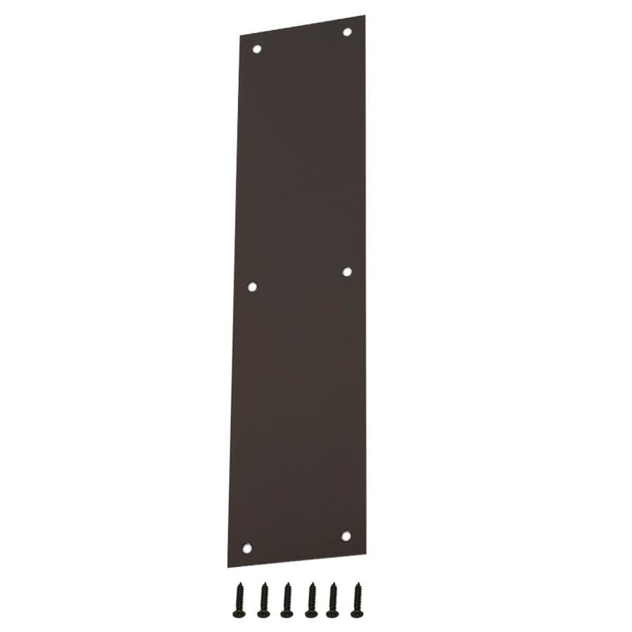Gatehouse 3.48-in x 14.96-in Bronze Entry Door Push Plate