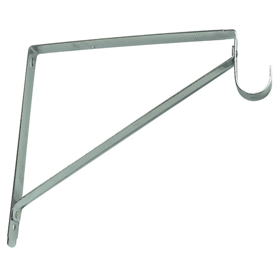 Style Selections Steel 12.66-in D x 10.71-in L x 0.98-in W Chrome Shelf Bracket