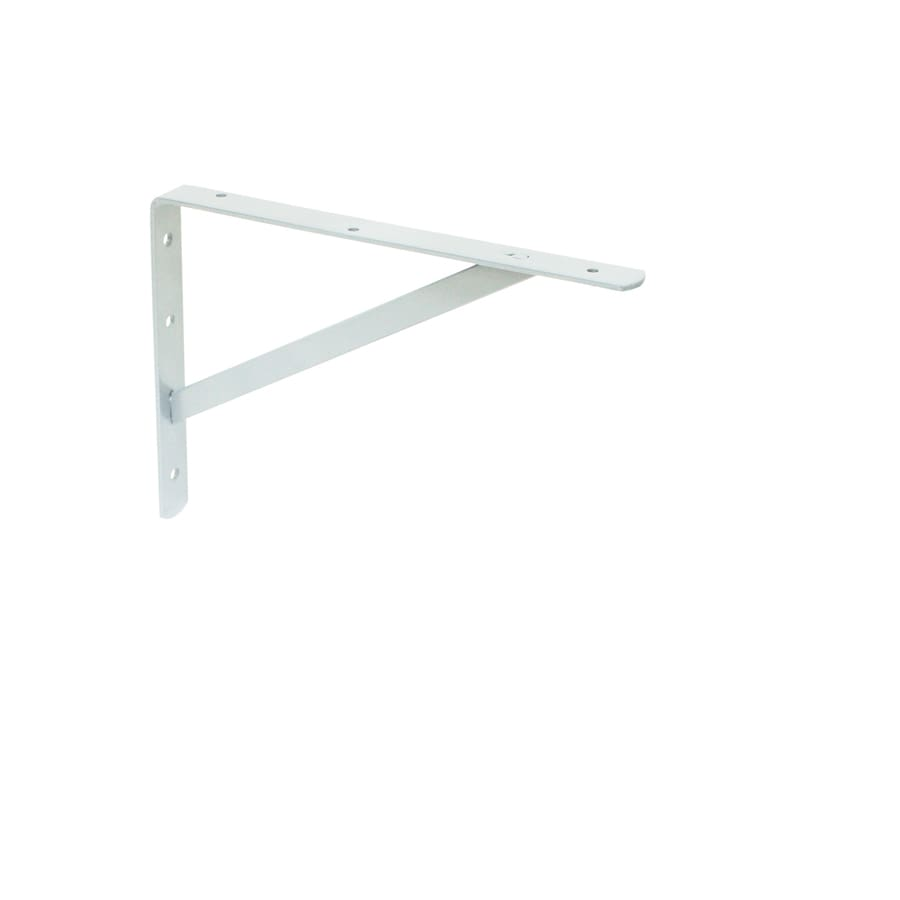 Style Selections Steel 11.69-in D x 8.07-in L x 1.16-in W White Shelf Bracket