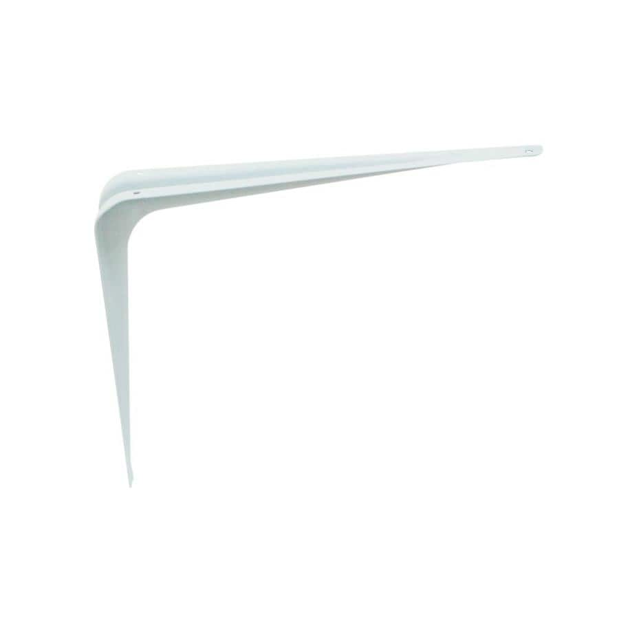 Style Selections Steel 7.25-in D x 9.5-in L x 1.875-in W White Shelf Bracket
