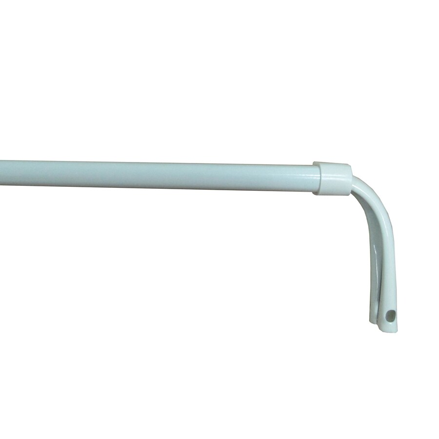 Project Source 48-in to 84-in White Steel Single Curtain Rod
