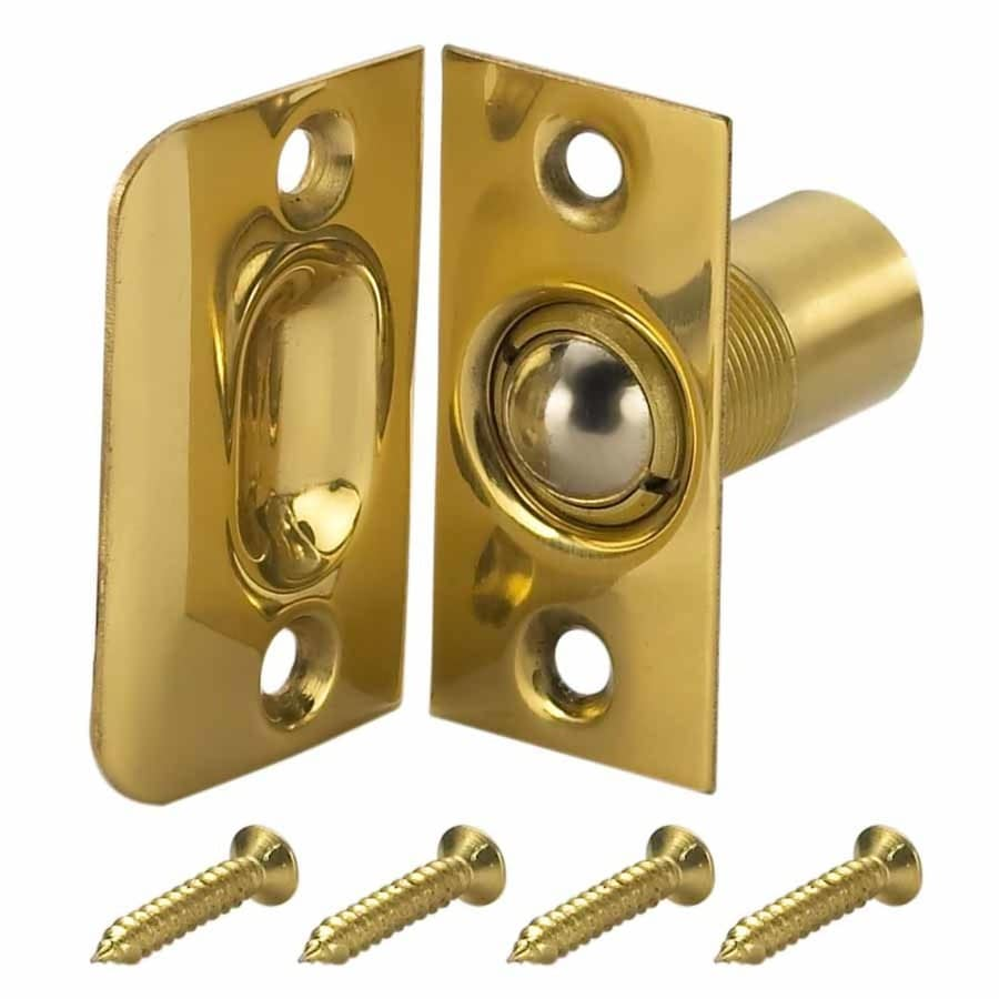 Gatehouse Polished Brass Adjustable Ball Catch