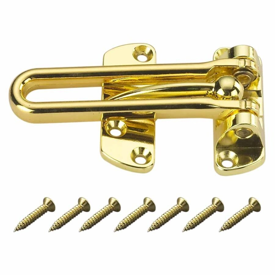 Gatehouse 4-1/8-in Polished Brass Slide Bolt Entry Door Chain Guard